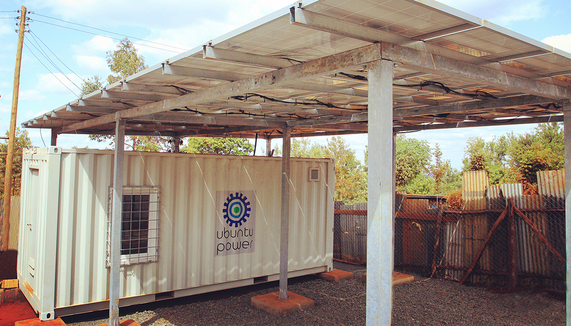 We deploy Smart Micro-Utilities, combining our innovative solar power and biogas hybrid.